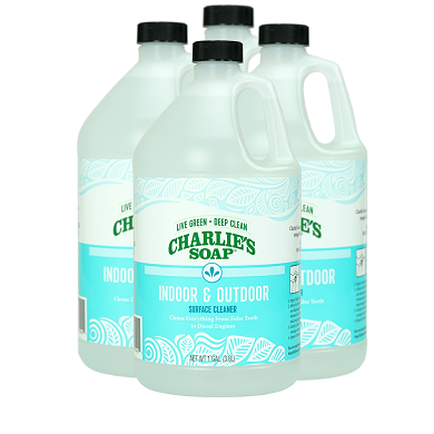 Charlie's Indoor/Outdoor Cleaner - 4 (1) Gallon Jugs